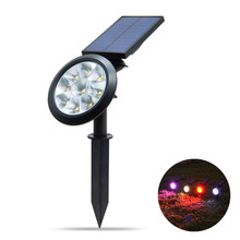 Solar Garden Light Outdoor LED Lawn Lamp Auto Working 7 Colors Changes Solar Lights For Patio Pathway Spotlight