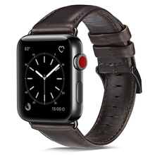 Leather Band Compatible to Apple Watch 42mm 44mm 38mm 40mm Genuine Vintage Replacement  Bands Strap Wristband