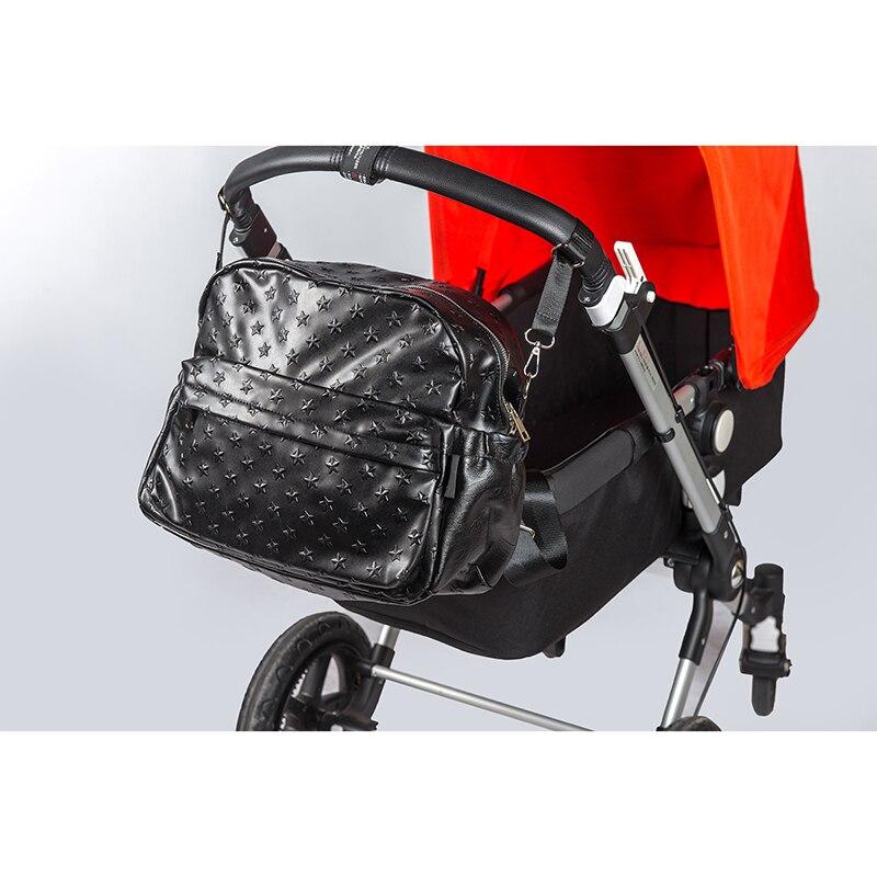 Soboba 2018 Blöja Väskor för Mummy PU Läder Stor Kapacitet Nappy - Blöjor och potträning - Foto 5