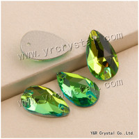 3230 All Sizes Peridot Drop Flatback Crystal Rhinestone Beauty Diamond Sew On Strass For Evening