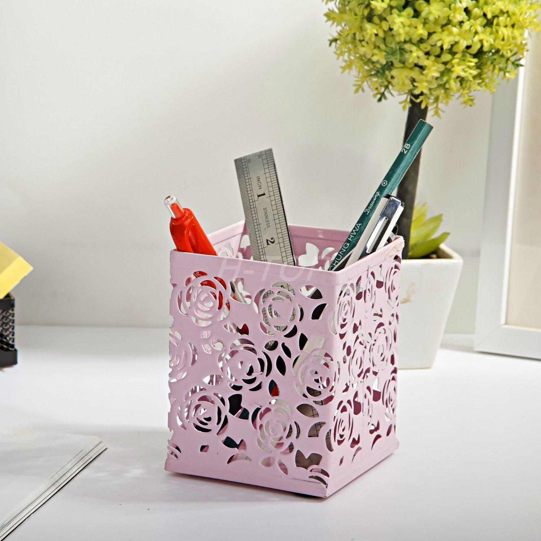 Cute Hollow Floral Design Pencil Holder Design Pen Holder
