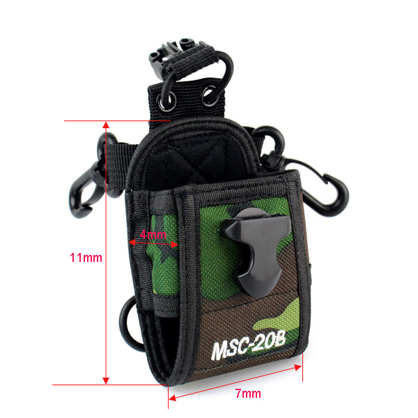 Camouflage Case Walkie Talkie Portable Protection Universal Radio Case Holder  Package For Baofeng Uv-5r Plus Bf-888s Gt-3 Uv-82