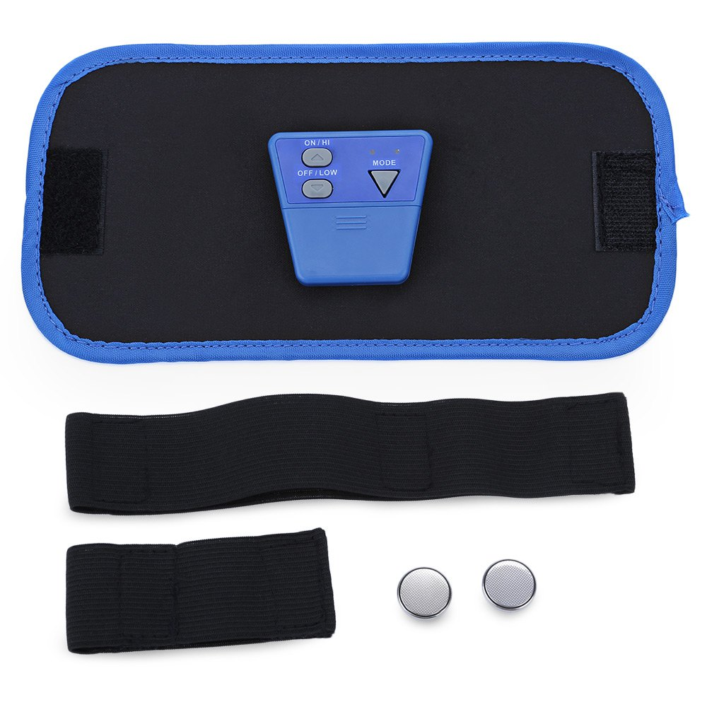 Slimming Belt Ab Massager Fitness Front Muscle Arm Leg Waist Abdominal Health Care Body Sculpting Blue2017