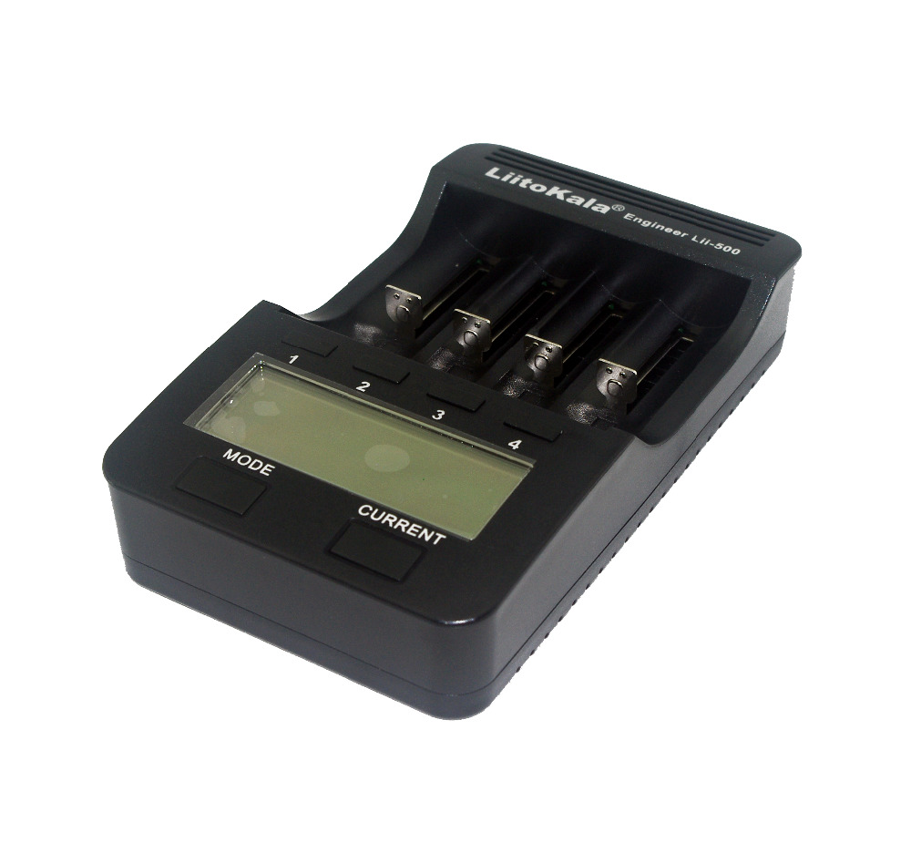 Liitokala Lii-500 NiMH Battery Charger,3.7V 18650 18350 18500 17500 10440 26650 1.2V AA AAA Test capacity LCD smart charge