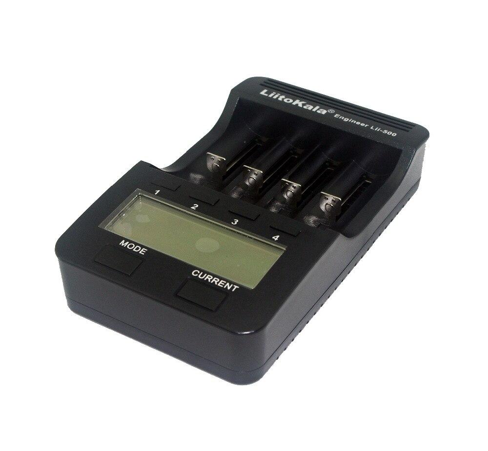 Liitokala Lii-500 NiMH Battery Charger,3.7V 18650 18350 18500 17500 10440 26650 1.2V AA AAA Test capacity LCD smart charge