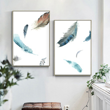 100% Hand Painted Abstract Morden Feathers Art Oil Painting On Canvas Wall Adornment Pictures For Live Rooms Home Decor