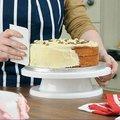 1 Unid Torta que adorna las herramientas Sugarcraft que Adorna la Placa Giratoria Del Soporte Plataforma Giratoria soporte de la torta de la magdalena del soporte placa de la torta de herramientas (014)
