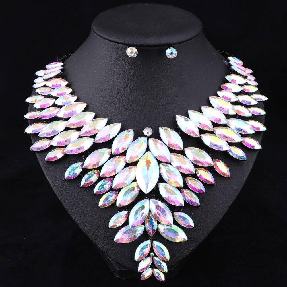7 colores conjuntos de joyas de cuentas africanas collar de boda - Bisutería - foto 2