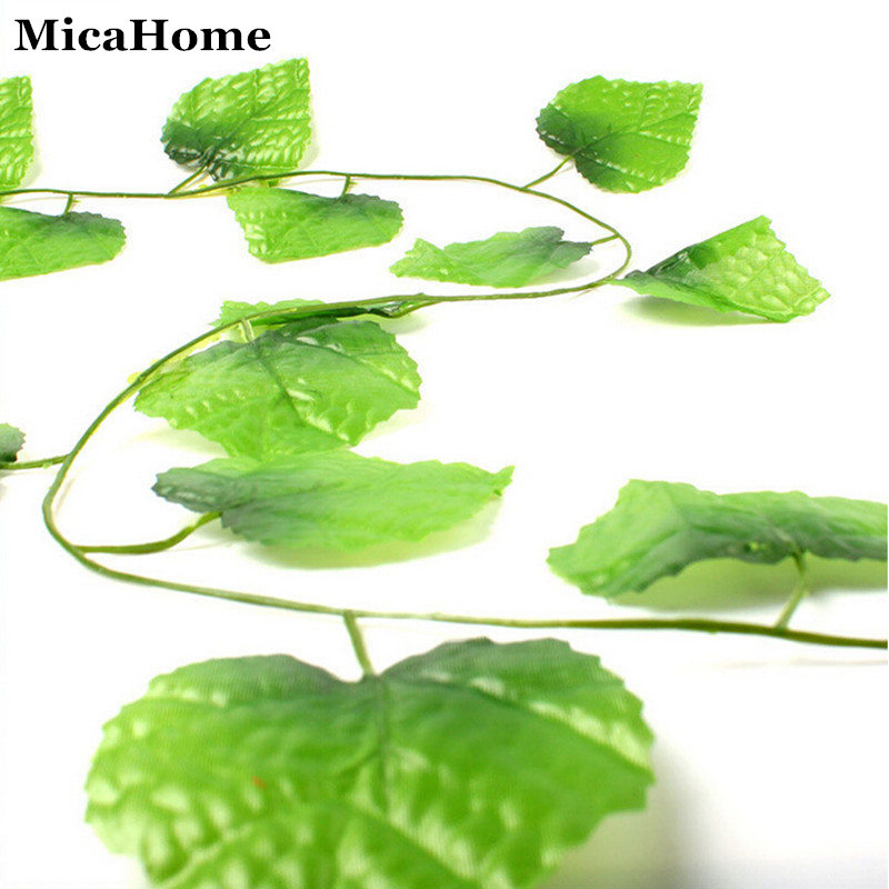 Artificial grape leaves flowers plant ivy vines simulation for Artificial leaves for decoration