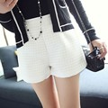 Fashion Plaid High Waist Shorts 3 Colors Casual Solid Women Shorts Homes Cotton and Polyester Fabric Short Feminino Plus Size