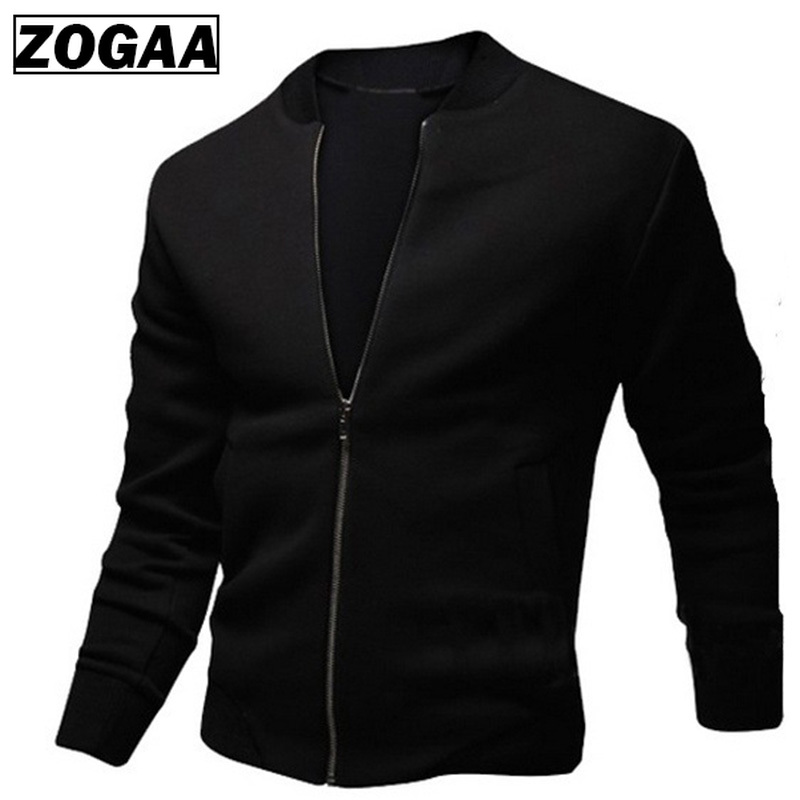 ZOGAA Spring Autumn Plus Size Mens Coats and Jackets Men's Zipper Jacket Casual Streetwear Hip Hop Slim Fit Coat Men Clothing