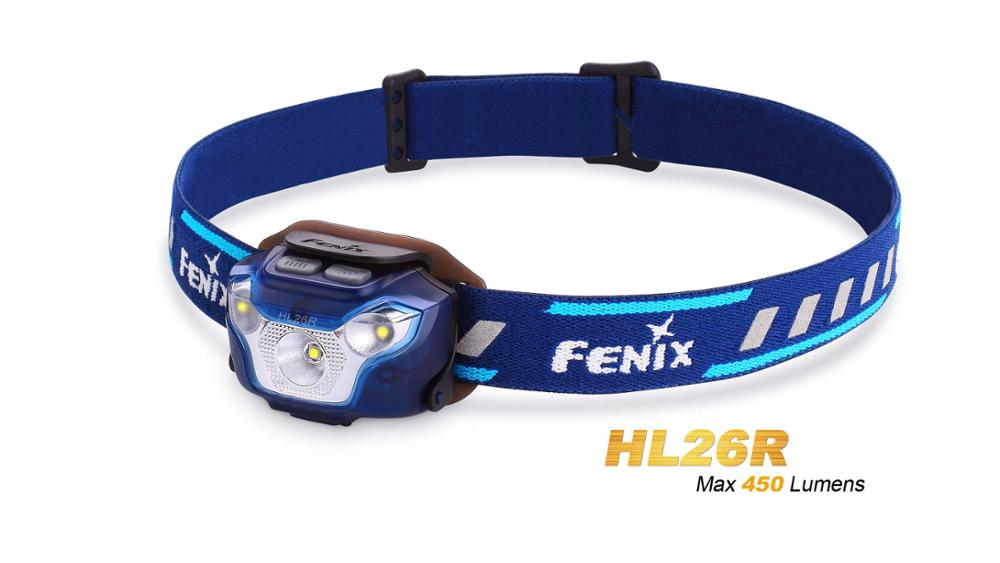 New Arrival Fenix HL26R Cree XP-G2 R5 LED 450 Lumens Ultra Lightweight USB Rechargeable Headlamp for Trail Running new arrival fenix tk25 red version cree xp g2 s3