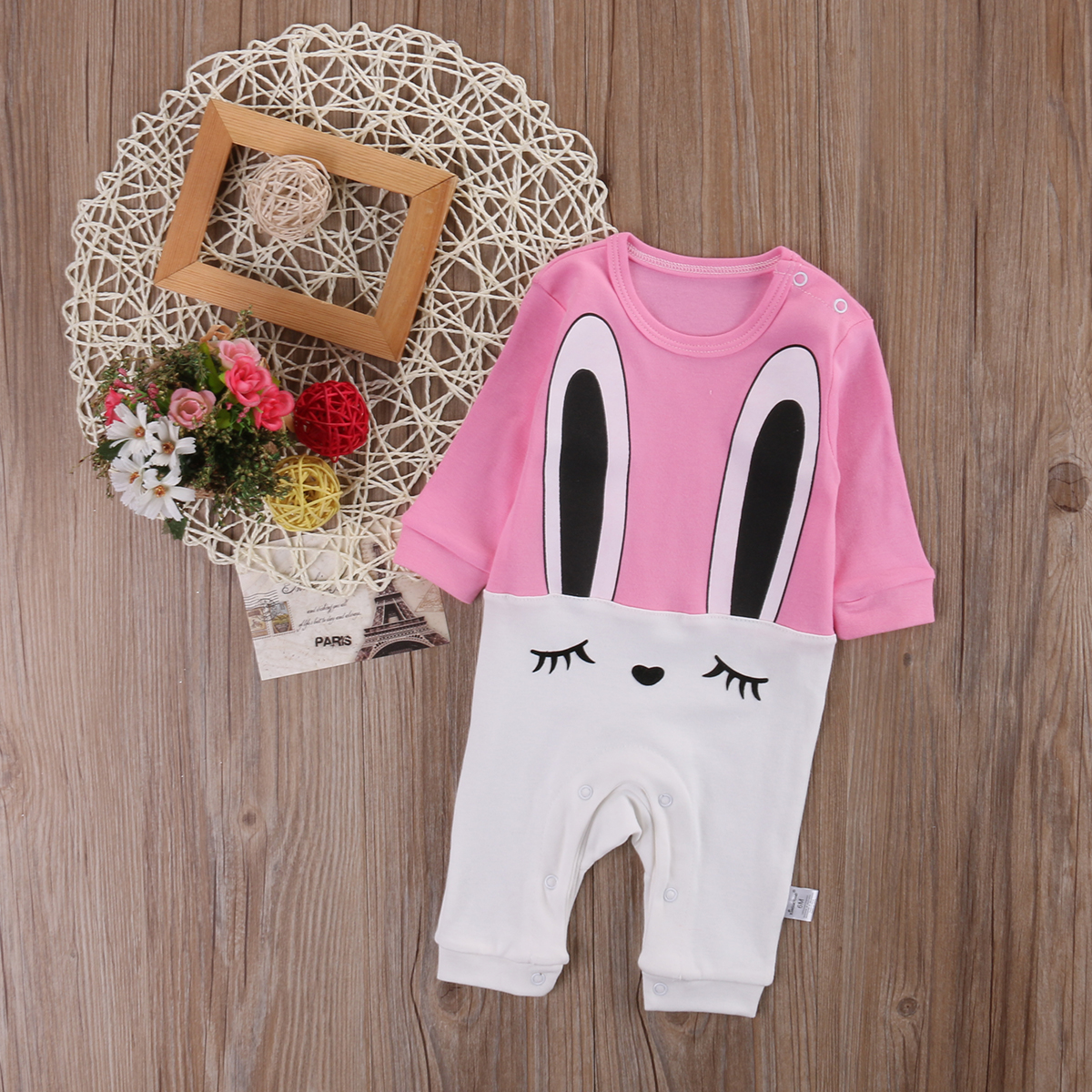 Infant Baby Girls long sleeve Romper Outfits Summer Sunsuit 3-36M
