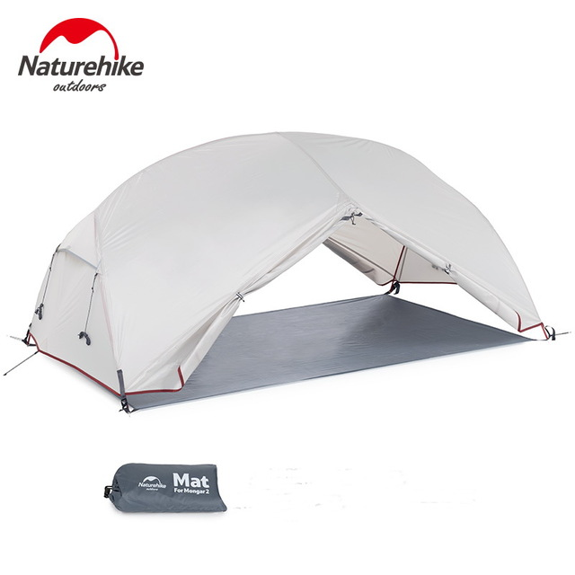 Naturehike Custom Mongar 2 3 Person Waterproof Double Layer Outdoor Tent Aluminum Rod Gray Ultralight Camping Tents Mat e-EMS 3