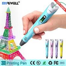 Myriwell Pluma 3D pantalla LED, 1.75mm Filamento PLA/ABS, Inteligente 3D impresión de la pluma, pluma creativa, regalo de cumpleaños del niño, 3D pluma Mágica pluma de dibujo