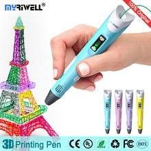 myriwell 3d ручка для рисования,LED дисплей,АБС/PLA нить,3д ручка 3d pen 3d pens Позволяет детям делать бесплатную живопись 3 д ручка 3 д триде ручка 3d ручка самая дешовая 3d Ручка зд ручка 3d для объёмного рисования