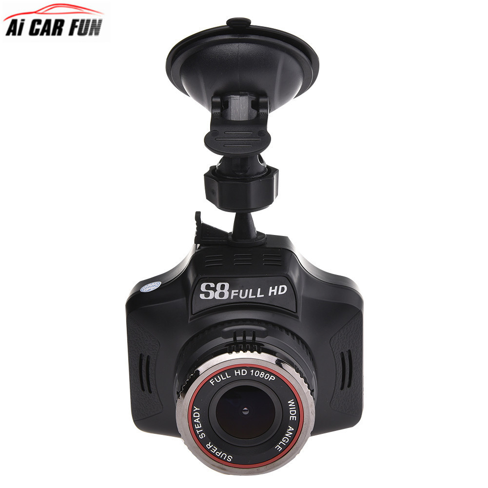2-en-1 Voiture Détecteurs de Radar DE VOITURE DVR GPS Caméra Dash Cam g-sensor Voiture Finder Soutien Anglais Et Russe Diffusion S8