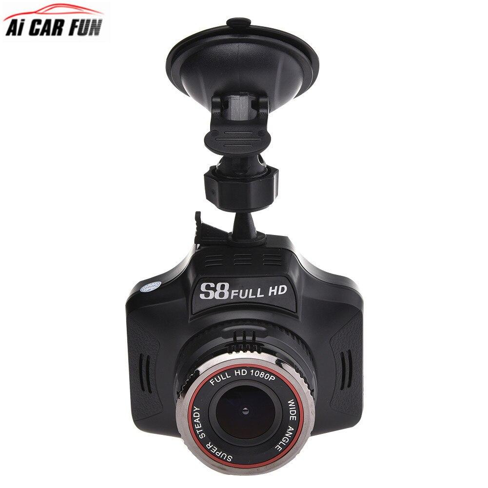 2-in-1 Car Radar Detectors CAR DVR GPS Camera Dash Cam G-sensor Car Finder Support English And Russian Broadcast S8 2 in 1 russian