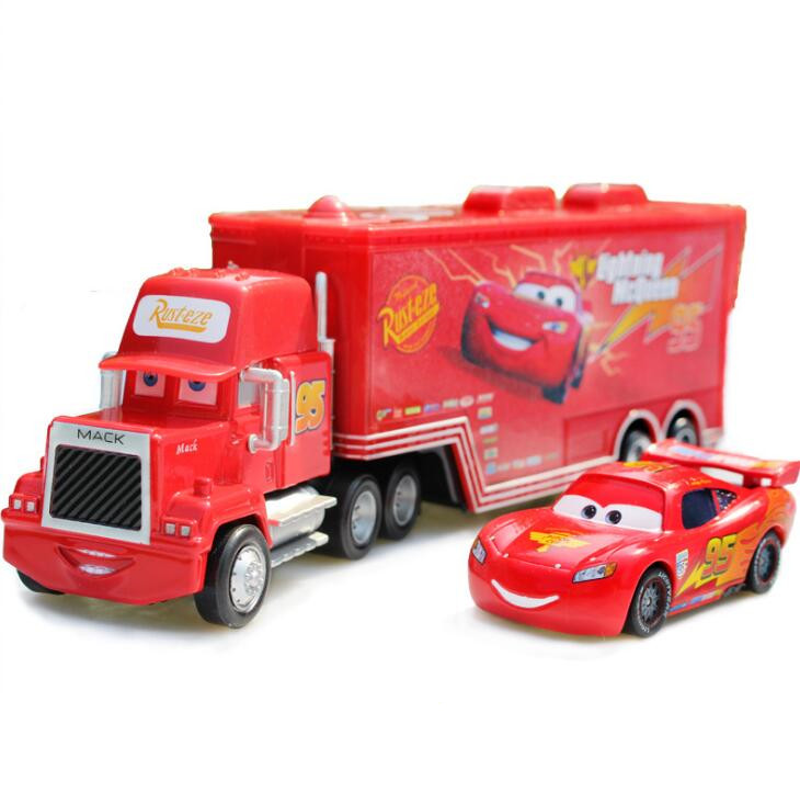 Disney Pixar Cars Toys 2pcs Lightning McQueen Mack Truck The King 1:55 Diecast Metal Alloy Modle Figures Toys Gifts For Kids excellence bb soprano clarinet bell ebony