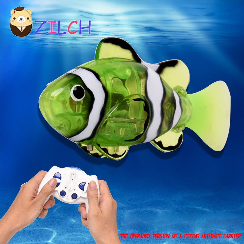 Mini Water Sport infrared remote control fish charging simulation electric clown fish su ...