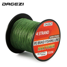 DAGEZI 500m 10-90LB 4 strand braidedfishing lines  Super Strong Multifilament 100% PE Braided Fishing Line