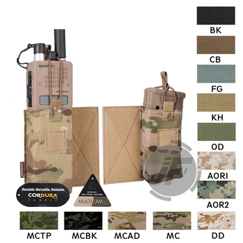 Emerson Tactical MBITR Radio Accessory Pouch Set EmersonGear M4 Magazine Mag Carrier Walkie Pocket Hook & Loop