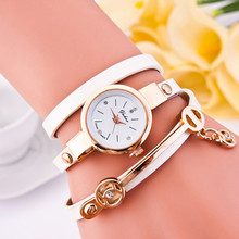 Feitong 2017 Fashion Dress Watches For Women Lady Bracelet Watches PU Leather Quartz WristWatch relogios feminino 100 pieces/Lot