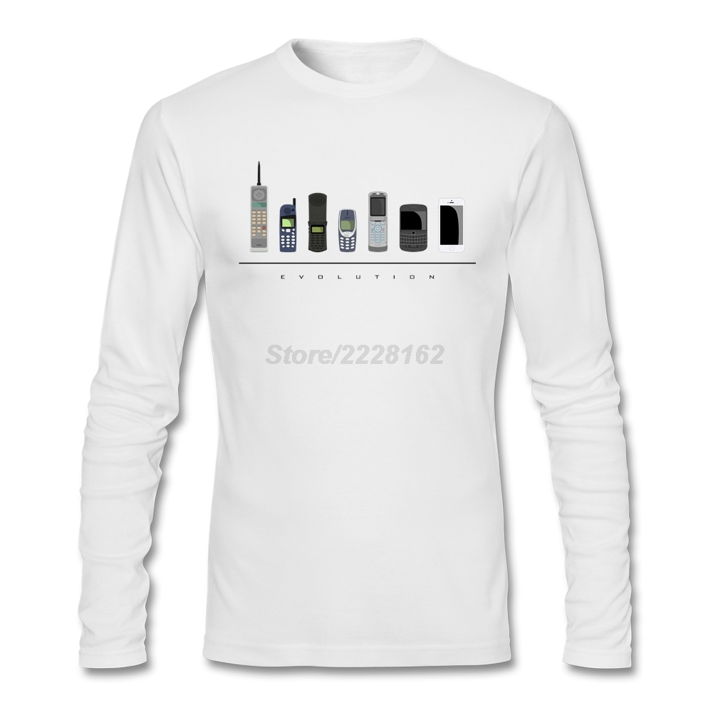 Mens Going Out 3D Print T-shirts men Evolution of Telecoms XS-3XL Phone Evolution Hi-Street Tees casual Shirt