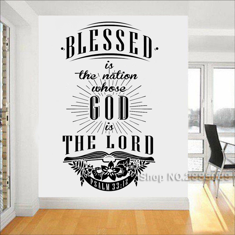 Whose Nursery Is That: New Arrival Quotes Stickers Blessed Is The Nation Whose