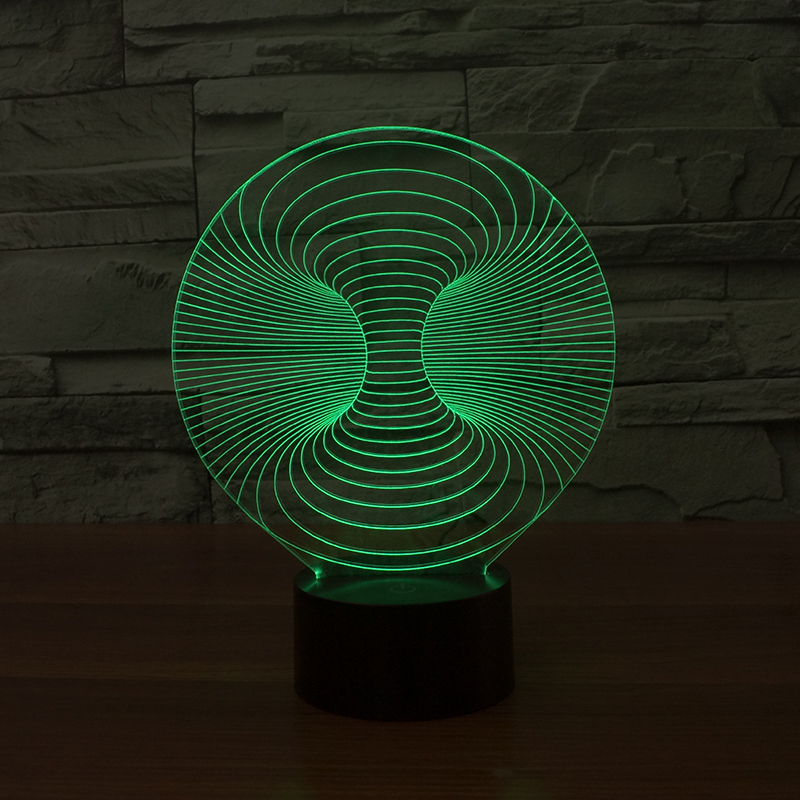 hotsale 3D abstract 7 Color lamp 3D Visual Led Night Lights for Kids Touch USB Table Lampara Lampe Baby Sleeping Nightlight