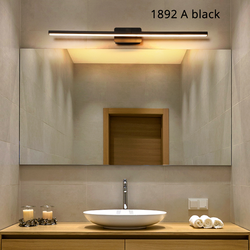 Modern minimalist aluminum lamp LED bedside lamp wall lamp room bathroom mirror direct light creative hallwayModern minimalist aluminum lamp LED bedside lamp wall lamp room bathroom mirror direct light creative hallway