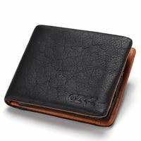 Genuine Leather Wallet Men Coin Purse Card Holder Man Walet Zipper Design Male Vallet Clamp For Money Bag Portomonee Perse