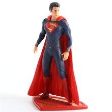 72d2618060708 DC COMICS Liga Da Justiça Superman Man of Steel Superhero PVC Action Figure  Collectible Modelo Crianças