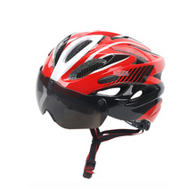 Men Women Integrally Molded Cycling Helmet Mountain Bike Helmet Safety Goggles Hat Bicycle Helmet With Insect
