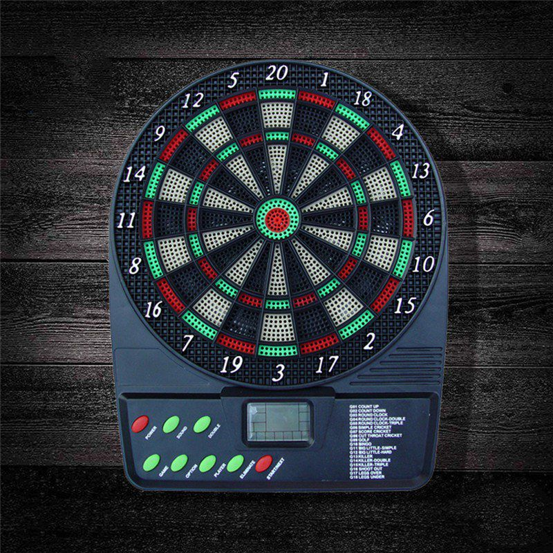 Electronic Dartboard Battery Automatic Score Dart Plate Scoring Board With HD LCD Display And 3 Plastic Tip Darts