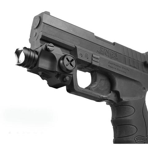 laserspeed mini pistola luz led light weight gun tocha pistola pistola glock montado em trilho