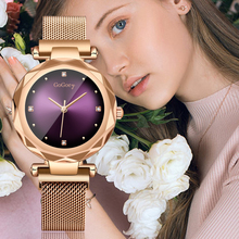 2019 New Fashion Ladies Watches Rose gold alloy casing waterproof watch Top luxury brands Women Quartz clock Casual style watch top plaza fashion women s alloy analog crystal watch rose gold tone