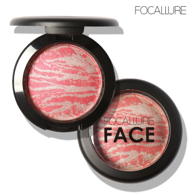 200Pcs/Lot Top Quality Professional Cheek 6 Colors Makeup Baked Blush Bronzer Blusher Cosmetic Blush Palette By Focallure