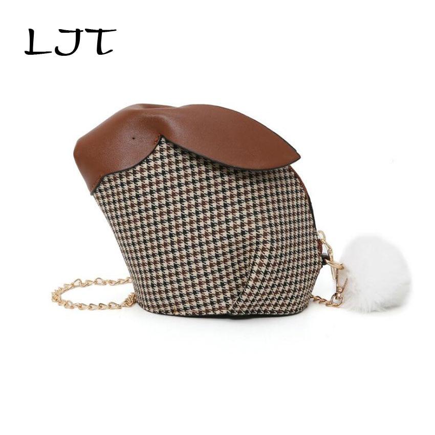 319ec6f69ecd Aliexpress.com   Buy LJT Cute Woolen Rabbit Chain Crossbody Bags for Women  2018 Autumn New Small Shoulder Bag Lady Party Evening Bag Clutch Purses  from ...