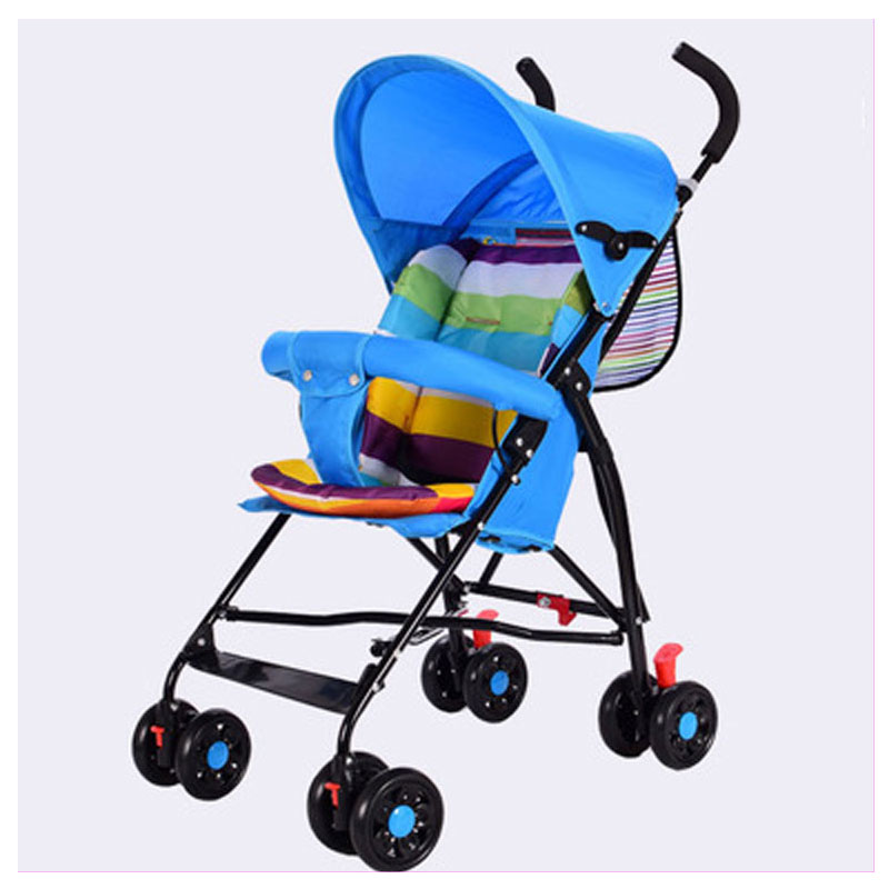 Breeze Summer Folding Four Wheel Baby Stroller Portable Travel System Beach Umbrella Baby Carriage Light Pushchair Pram Buggy travel system airplane folding baby stroller umbrella high landscape pushchair buggy trolley pram portable shoulder bag suitcase