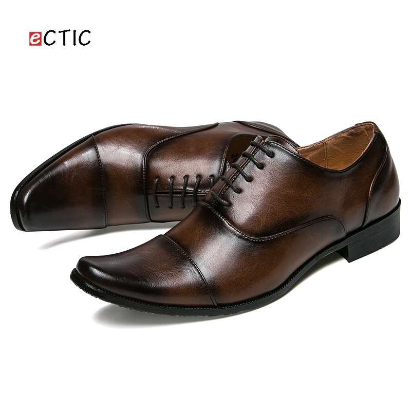 6b90906025 US $27.52 49% OFF|New Arrival Luxury Urban Vintage Men Business Shoes  Leather Pointed Toe Dress Shoes Mens Wedding Calcados Handsome Gentleman-in  ...