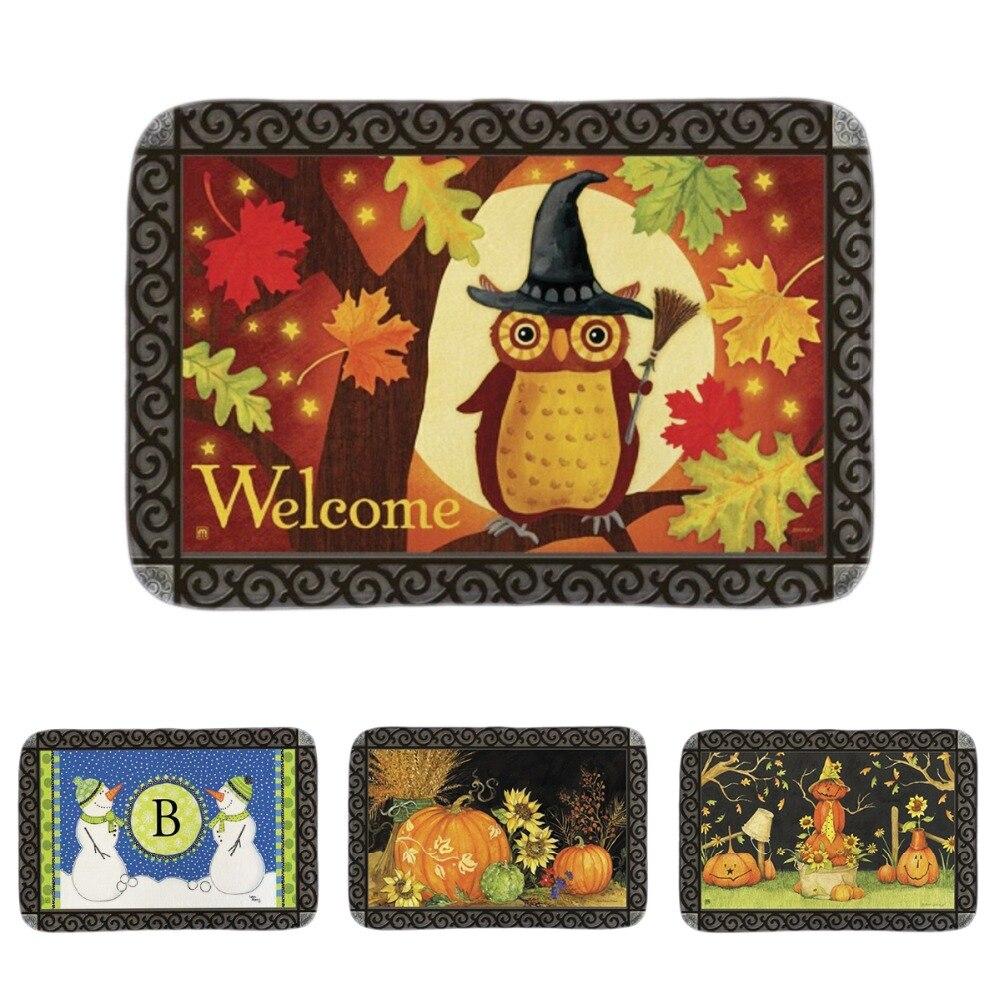 Halloween owl indoor outdoor doormat home decorative for Decorative door mats indoor