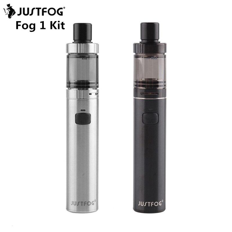 10pcs lot Original Justfog Fog 1 Electronic Cigarette Kit 1500mAh Battery Stainless Steel Start Kit for
