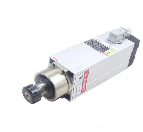 220 V/380 V axe de moteur refroidi par Air 3.5kw carré haute vitesse broche moteur gravure Machine accessoires ER25