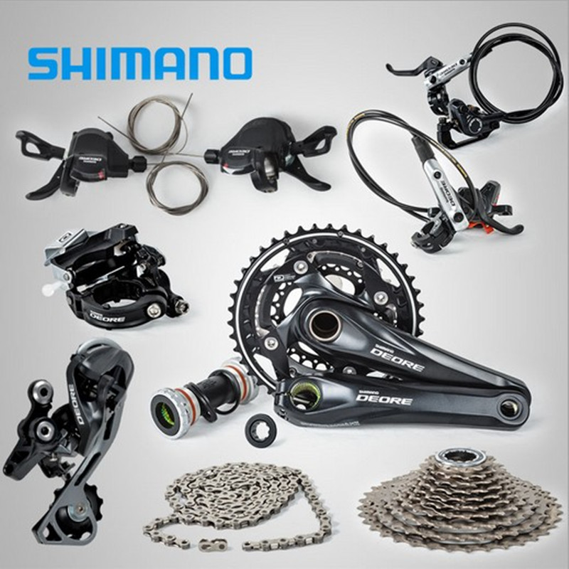 SHIMANO DEORE M610 3x10S Speed Groupset With M615 Hydraulic Disc Brake MTB Mountain Bike shimano m615 правый задний