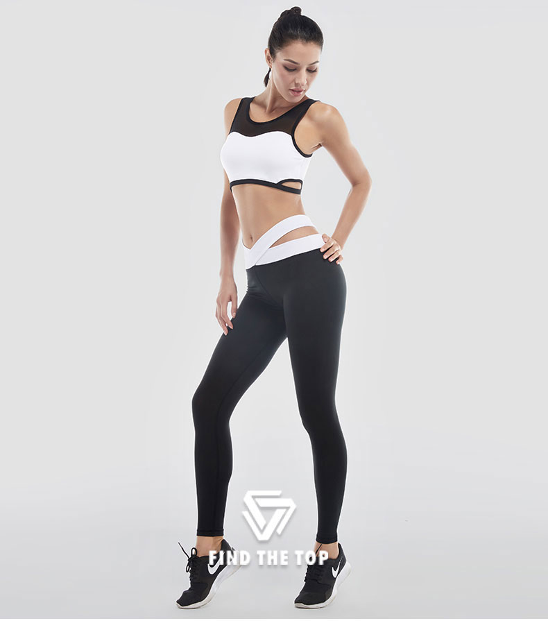 VANSYDICAL Leggings Women Sexy Yoga Pants Sports Pants Elastic Fitness Pants Workout Running Tight Sport Legging Female Trousers 10