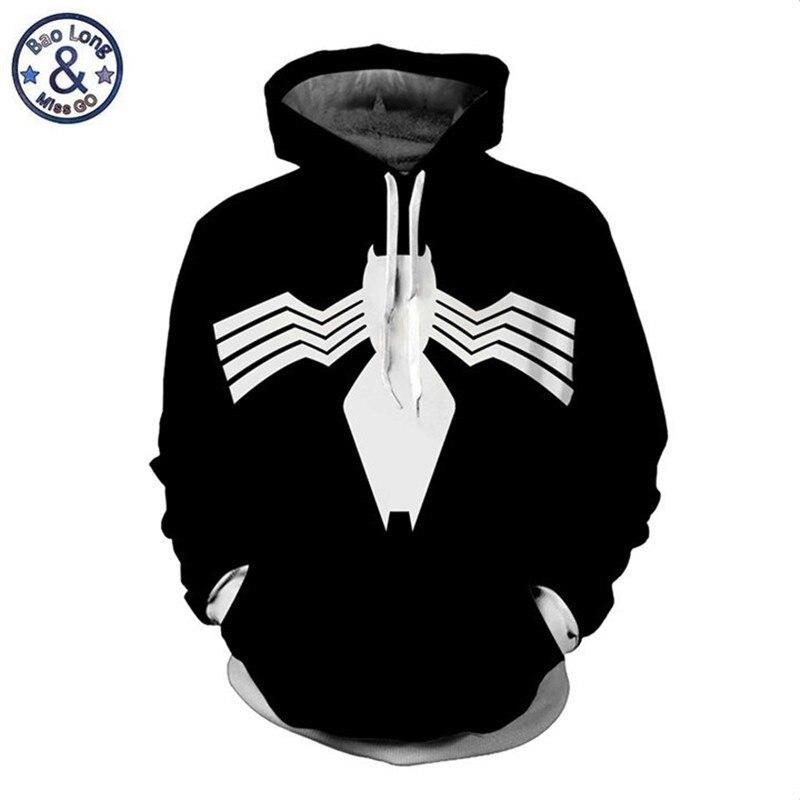 New Movie Venom 3D Hoodie Sweatshirt Superhero Men/'s Jacket Coat Pullover Tops
