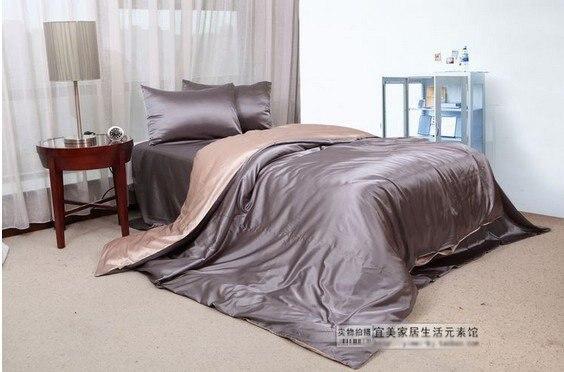 120401   free shipping Silk bed sheet/   bedding/ 4pcs bedding set/ flat sheet/very large