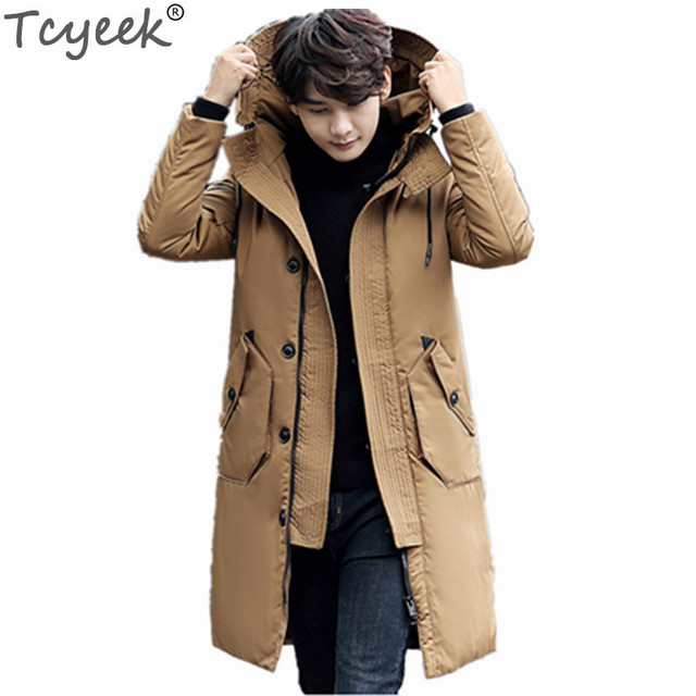 679c0011e63 Tcyeek Long Winter Jacket Men Brand Clothing Male Coats High Quality White  Duck Down Parkas Jaquetas