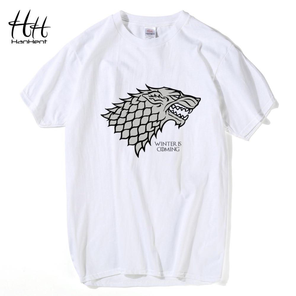 HanHent Game Of Thrones T-shirt heren DireWolf Zomer Katoenen Tops - Herenkleding - Foto 3